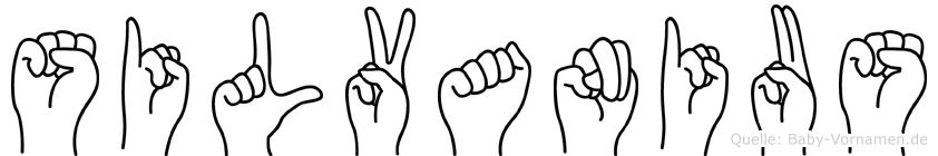 Silvanius in Fingersprache für Gehörlose