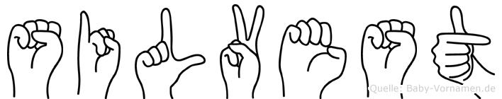 Silvest im Fingeralphabet der Deutschen Gebärdensprache
