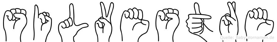 Silvestre im Fingeralphabet der Deutschen Gebärdensprache