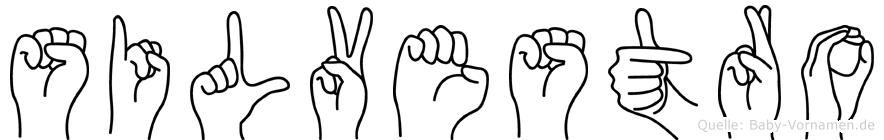 Silvestro im Fingeralphabet der Deutschen Gebärdensprache