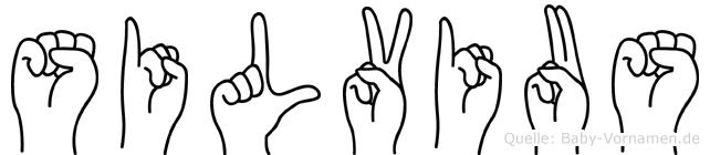 Silvius im Fingeralphabet der Deutschen Gebärdensprache