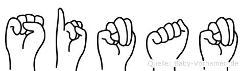 Sinan im Fingeralphabet der Deutschen Gebärdensprache