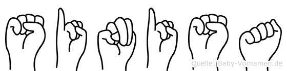 Sinisa in Fingersprache für Gehörlose