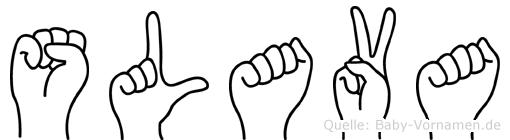 Slava im Fingeralphabet der Deutschen Gebärdensprache