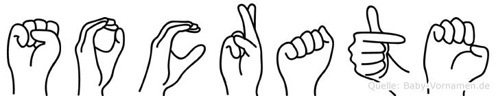 Socrate im Fingeralphabet der Deutschen Gebärdensprache