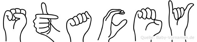 Stacey in Fingersprache für Gehörlose