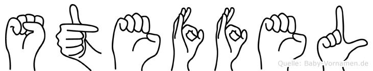 Steffel im Fingeralphabet der Deutschen Gebärdensprache