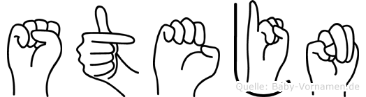 Stejn im Fingeralphabet der Deutschen Gebärdensprache