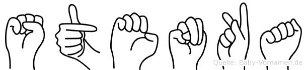Stenka im Fingeralphabet der Deutschen Gebärdensprache