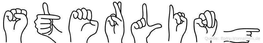 Sterling im Fingeralphabet der Deutschen Gebärdensprache