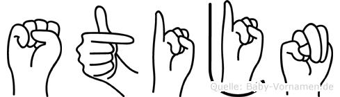 Stijn im Fingeralphabet der Deutschen Gebärdensprache