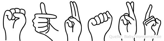 Stuard in Fingersprache für Gehörlose