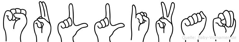 Sullivan im Fingeralphabet der Deutschen Gebärdensprache