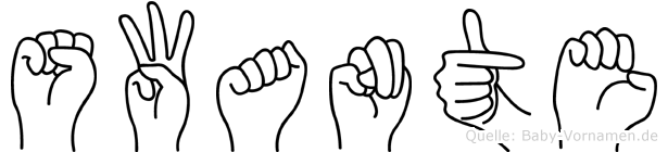 Swante in Fingersprache für Gehörlose