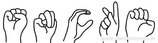 Söncke im Fingeralphabet der Deutschen Gebärdensprache
