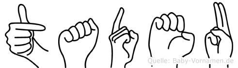 Tadeu im Fingeralphabet der Deutschen Gebärdensprache