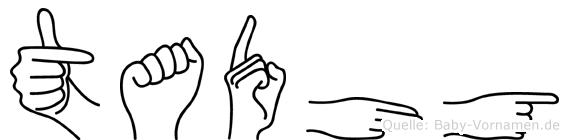 Tadhg in Fingersprache für Gehörlose