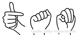 Tam im Fingeralphabet der Deutschen Gebärdensprache