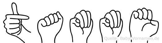 Tamme im Fingeralphabet der Deutschen Gebärdensprache