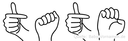 Tate in Fingersprache für Gehörlose