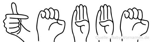 Tebbe in Fingersprache für Gehörlose