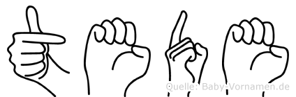 Tede in Fingersprache für Gehörlose
