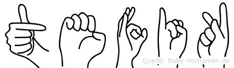Tefik in Fingersprache für Gehörlose