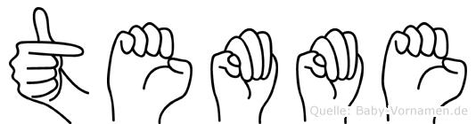Temme im Fingeralphabet der Deutschen Gebärdensprache