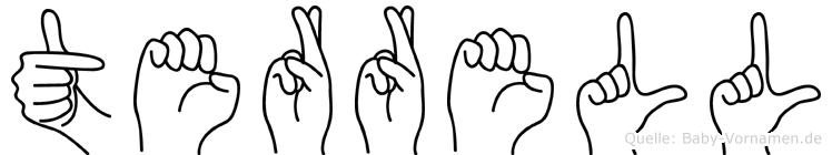 Terrell im Fingeralphabet der Deutschen Gebärdensprache