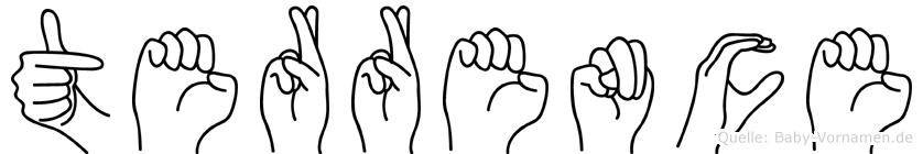 Terrence im Fingeralphabet der Deutschen Gebärdensprache