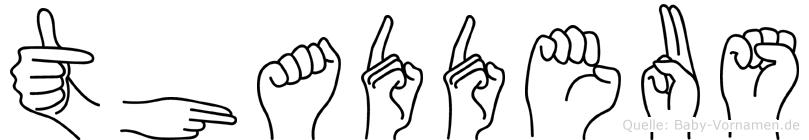 Thaddeus im Fingeralphabet der Deutschen Gebärdensprache