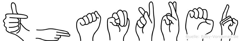 Thankred im Fingeralphabet der Deutschen Gebärdensprache
