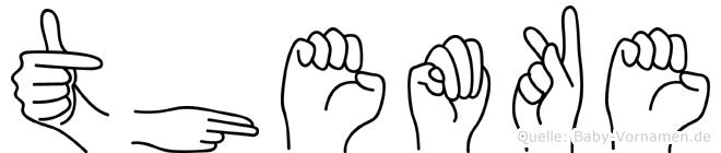 Themke im Fingeralphabet der Deutschen Gebärdensprache