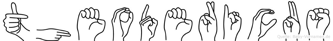 Theodericus im Fingeralphabet der Deutschen Gebärdensprache