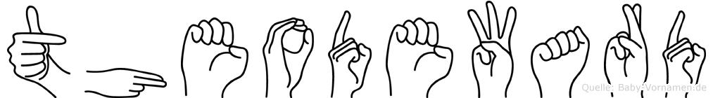 Theodeward in Fingersprache für Gehörlose