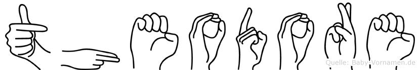 Theodore im Fingeralphabet der Deutschen Gebärdensprache
