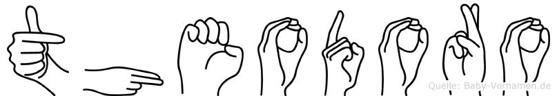 Theodoro in Fingersprache für Gehörlose