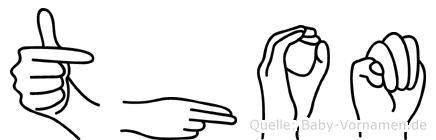 Thom im Fingeralphabet der Deutschen Gebärdensprache