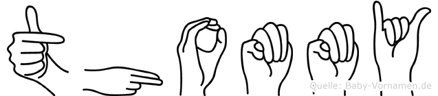 Thommy im Fingeralphabet der Deutschen Gebärdensprache