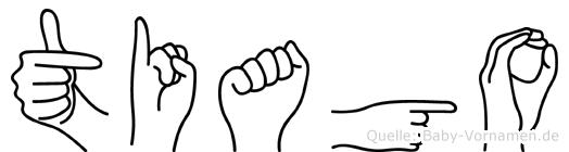 Tiago im Fingeralphabet der Deutschen Gebärdensprache