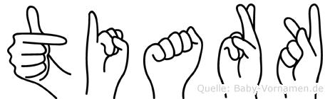 Tiark im Fingeralphabet der Deutschen Gebärdensprache