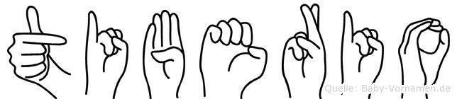 Tiberio in Fingersprache für Gehörlose