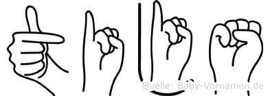 Tijs in Fingersprache für Gehörlose