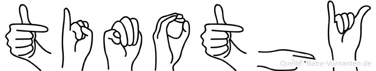 Timothy in Fingersprache für Gehörlose