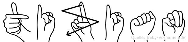 Tizian in Fingersprache für Gehörlose