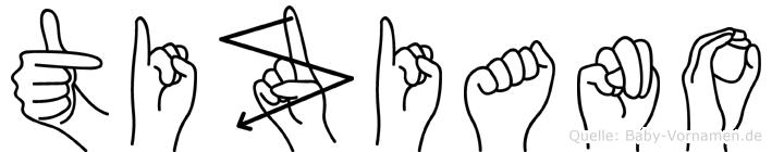 Tiziano im Fingeralphabet der Deutschen Gebärdensprache