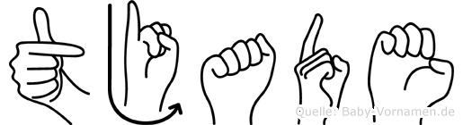 Tjade in Fingersprache für Gehörlose