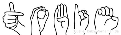 Tobie in Fingersprache für Gehörlose