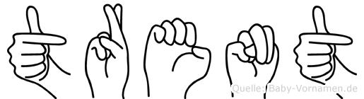 Trent in Fingersprache für Gehörlose