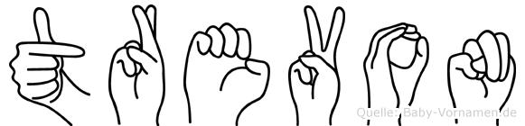 Trevon in Fingersprache für Gehörlose